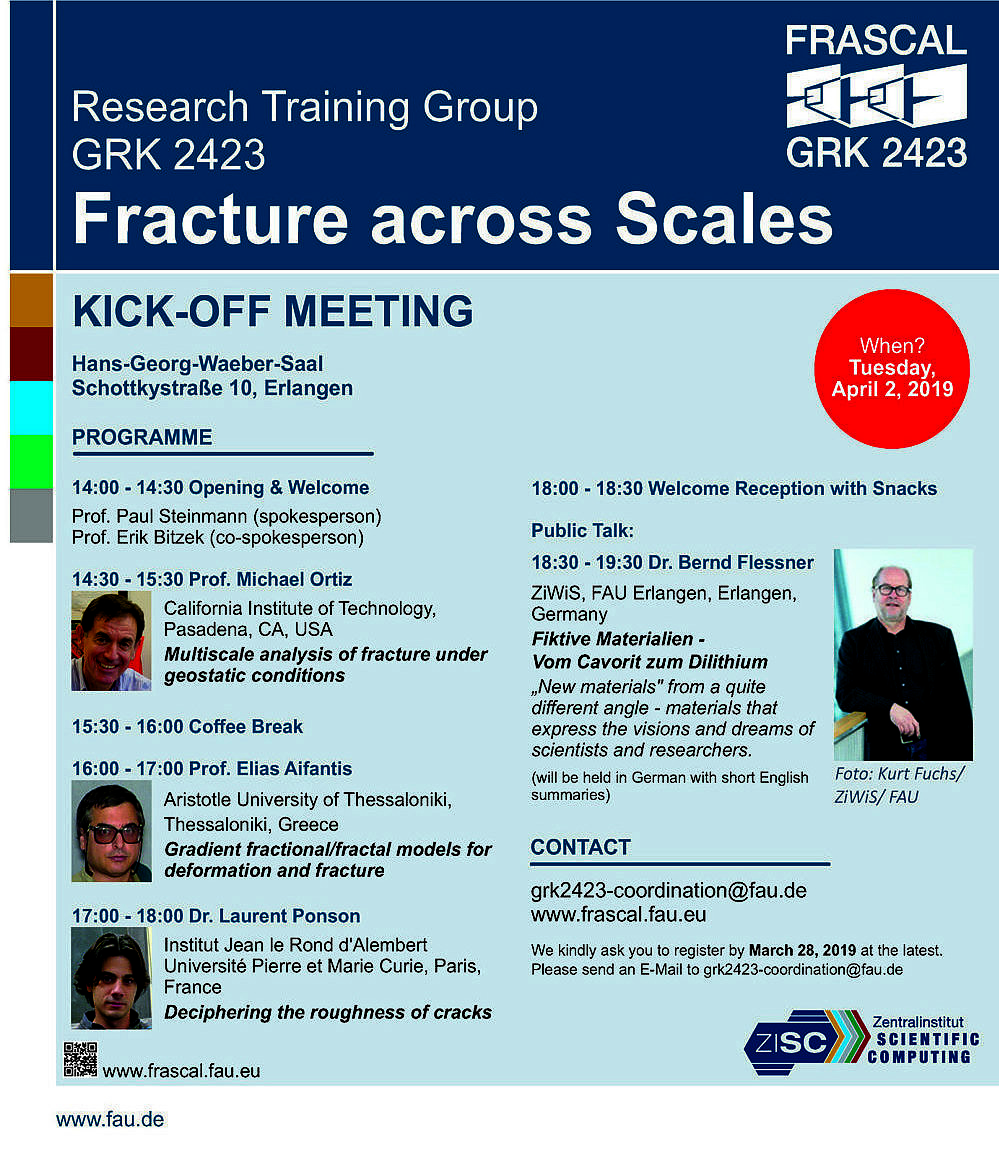 "Towards entry ""Kick-Off Meeting of GRK 2423 FRASCAL of the FAU on April 2, 2019"""